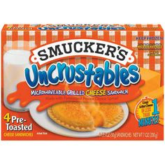 Smuckers Uncrustables, Kids Menu, Snack Recipes, Snacks, Cheese Spread, Pop Tarts, Grilling, Sandwiches, 33rd Birthday