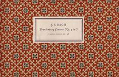 Publisher: Penguin Books / Series: Penguin Scores / Designer: Jan Tschichold / Year: 1954 / Pattern by Elizabeth Friedlander