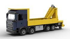 Lego Technic Truck, Lego Truck, Lego House, Cool Lego, City Style, Lego City, Knuckle Boom, Lego Vehicles, Trucks