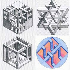 January 27 2018 at from worldintheirart Optical Illusions Drawings, Illusion Drawings, Art Optical, Illusion Art, 3d Art Drawing, Paper Drawing, Art Drawings, Isometric Sketch, Isometric Paper