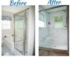 Superbe Complete Bathroom Remodel   Tub To Shower Conversion   Moving The Shower To  A New Area   New Floor   Glass Walk In Shower   Shower With Windows   Shower  ...