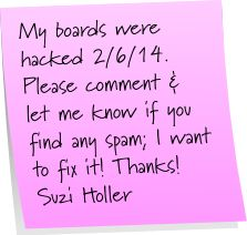 Thank you, @Pinterest for finding the problem and stopping the hacker as quickly as you did. I hope I've found all the issues. http://pinterest.com/suziholler