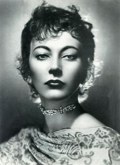 Arturo Ghergo - actress Valentina Cortese. Rome, 1941