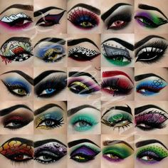 Halloween Eye Makeup, Maquillage Halloween, Halloween Make Up, Halloween Pumpkins, Halloween Rave, Halloween Birthday, Makeup Fx, Fun Makeup, Beauty Makeup
