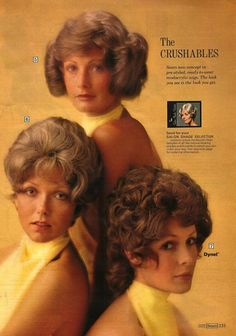 Wig advertisement from vintage Sears catalog.