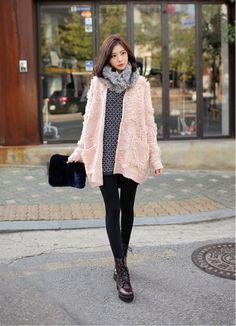 Korean pink fashion 2013 #winterfashion
