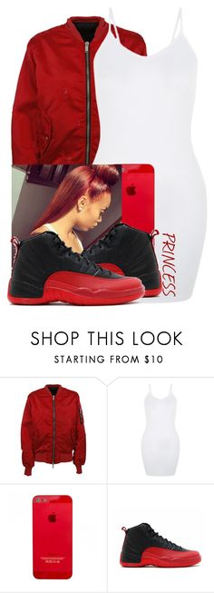 """Red & White"" by lovetayla ❤ liked on Polyvore featuring Unravel and NIKE"