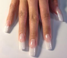 awesome White French manicure. I've had this kind of nails before in Cali, with the long...