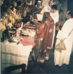 Saint John celebrating the Pontifical Liturgy of Saint Germanus at the Cathedral of Saint Irenaeus in Paris.
