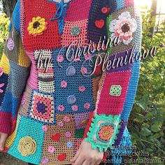 Thank you for stopping by this awesome Crochet tunic pullover blouse gypsy gipsy patchwork colorful boho hippie color blocks Crochet boho tunic Gipsy Queen Gorgeous Crochet tunic sweater in gipsy gypsy