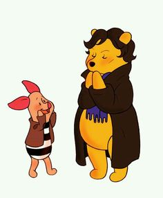 Winnie the Pooh Sherlock cosplay, it's Poohlock.  G;)