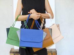 DU PELLI Ali di blu - handmade leather bag