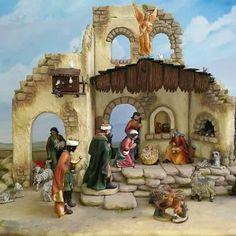 Christmas Nativity Set, Ceramic Houses, Tenerife, Nativity Scenes, Crib, Portal, Print Patterns, Lettering, Ideas