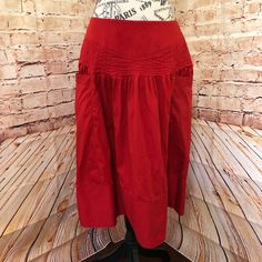 Red skirt on Poshmark Skirt Belt, Red Skirts, Red Fabric, Olive Green, Ootd, Smoke Free, Deep, Zipper, Pockets