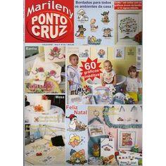 Revista Marileny Ponto Cruz 60 gráficos inéditos Mais cor e sabor na sua cozinha... Fabricante: Editora Rimary