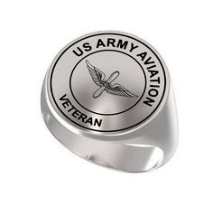 Men s Women s US Army Military Steel Band Ring Charm 8 40ef620ee3