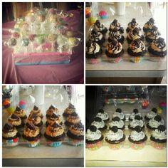 Oreo, Rolo, snicker cupcakes, cakepops