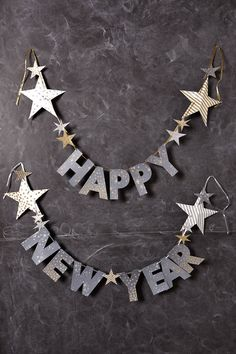 Happy New Year Garland - anthropologie.com