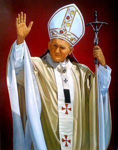 Portret papieża Jana Pawła II