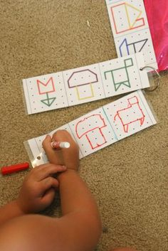 Copy the pattern to make simple shapes this picture shows the child re-creating the image. follow the link and she shows geoboards (another great perceptual activity)