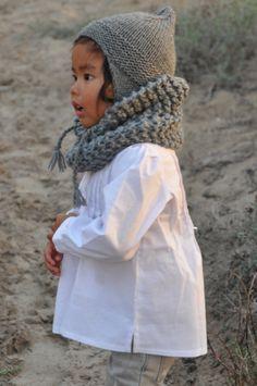 Cuellos y gorros de lana merino 100% tejidos a mano http://pajarato.com