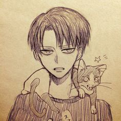 Levi and kitty Eren