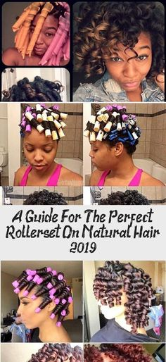 A Guide For The Perfect Rollerset on Natural Hair 2019 - Curly Girl Swag Hair Care Oil, Hair Growth Oil, Natural Hair Growth, Natural Hair Styles, Dark Curly Hair, Curly Girl, Frizzy Hair, Long Hair, Medium Length Hair Up