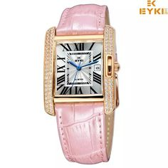 Top Luxury Brand EYKI Ladies Fashion Quartz Waterproof Wristwatch With Genuine Leather Strap //Price: $57.58 & FREE Shipping // #hashtag1 Ladies Fashion, Womens Fashion, Top Luxury Brands, Square Watch, Luxury Branding, Fashion Online, Vintage Ladies, Quartz, Watches