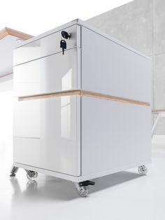 Office storage with plywood- Snabb #plywood #sklejka #furniture #meble