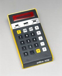 Electronic Pocket Calculator by Isot, model Elka 101, c1976. Before the fall of the Iron Curtain in 1989, Bulgaria hasd one of the largest electronics industries in Eastern Europe. However in the 1970s they had to import the integrated circuits to compete.    http://www.sciencemuseum.org.uk/objects/computing_and_data_processing/1999-748.aspx