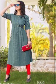 Wholesale Simple Office Wear Plain Rayon Kurtis Catalog. This Is 10 Pcs Catalog.We assure you for best customer experience on your bulk purchase. We are committed to send you best quality.The color visible in display picture is the closest view of the actual garment. However, slight color or shade variation can occur due to flash or lighting during photo shoot. All these kurtis are readymade available in various sizes