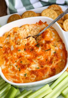This is the best Buffalo Chicken Dip 5 ingredient recipe for your next party. Creamy, cheesy and tastes like buffalo chicken wings dipped in ranch dressing. Buffalo Dip, Buffalo Chicken Wing Dip, Buffalo Chicken Dip Recipe, Chicken Dips, Chicken Recipes, Buffalo Chicken Nachos, Appetizer Dips, Best Appetizers, Appetizer Recipes