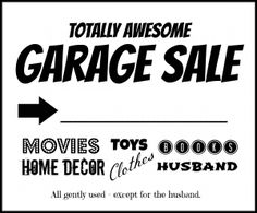 Garage Sale Flyer Poster Social Media Post Design  Garage Sale