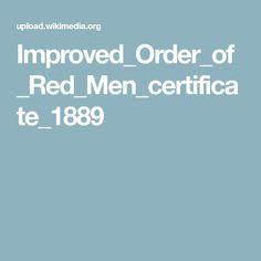 Improved_Order_of_Red_Men_certificate_1889