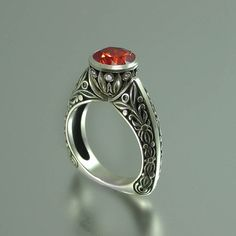 The COUNTESS 14K engagement ring with lab by WingedLion on Etsy, $1385.00