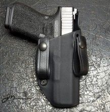Min. Adjusta-cant IWB for Glock 19 shown in 0 degree position.