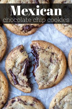 Mexican chocolate chip cookies Soft chocolate chip cookies that have cinnamon and cayenne pepper in them Soft Chocolate Chip Cookies, Chocolate Cookie Recipes, Homemade Chocolate, Chocolate Chips, Recipe For Choclate Chip Cookies, Baking Chocolate, Almond Cookies, Mint Chocolate, Best Dessert Recipes