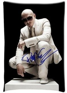 921b1fd19011 Cartrol Cotton and Polyester Custom Pillowcase- Cuban American recording  artist Pitbull (rapper) Zippered