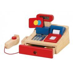 Caja registradora de madera. De Veobio.
