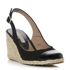 CHAY - Toe Cap Slingback Espadrille Wedge Sandal