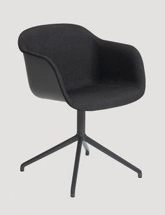 MUUTO krzesło tapicerowany front FIBER swivel base