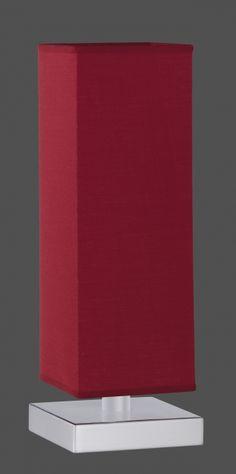 5914 - TRIO - dotyková stolová lampa - červený textil