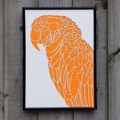 Parrot Paper Cut (Other Colours Available)