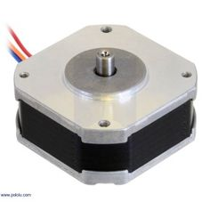 Pololu - Sanyo Pancake Stepper Motor: Bipolar, 200 Steps/Rev, 1 A/Phase Arduino Programming, Programming Languages, Sanya, Stepper Motor, Starter Kit, Pancake, Turntable, Diy, Technology