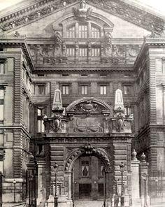 Rear view of Garnier's Opéra, Paris