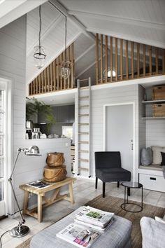 Voorbeeld van een lage vide en kleine leefruimte
