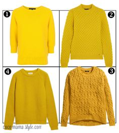 yellow sweaters jumpers gucci french connection H&M chinti and parker