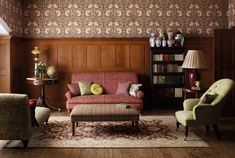 The Original Morris & Co | Archive Prints Wallpaper- original wallpaper designs by Morris & Co., including the Strawberry Thief alongside new designs inspired by archive Morris woven tapestries and embroideries
