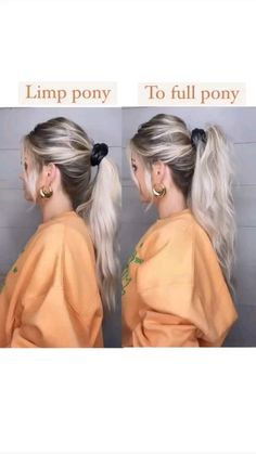 Pigtail Hairstyles, Prom Hairstyles For Long Hair, Pigtail Braids, Quick Hairstyles, Pretty Hairstyles, Braided Ponytail, Hair Inspo, Hair Hacks, Hair Goals