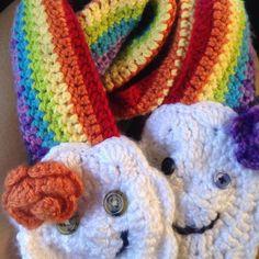 rainbow #crochet scarf by e.mireles - 100+ Inspiring Crochet Photos